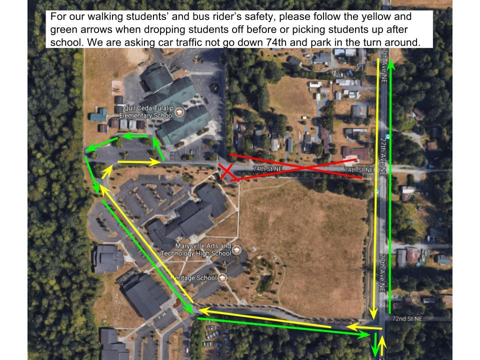 Student Pickup and Drop-off Map