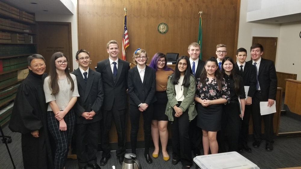 A shout out to the students who participated in this year's Mock Trials and to the teachers who guided them, Eric Hanson and Anne Galenberg!