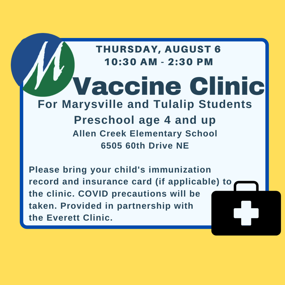 Vaccination Clinic - August 6, 2020