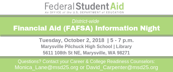 District wide Financial Aid (FAFSA) Information Night