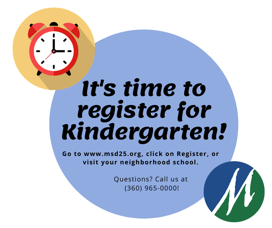 Time to register for Kindergarten!