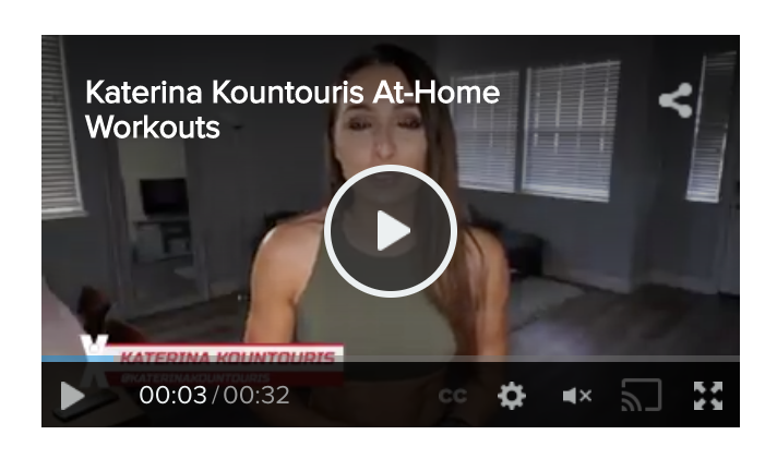 Katerina Kountouris at-home workouts: Watch the personal trainer introduce her first eight exercise videos you can watch at home.