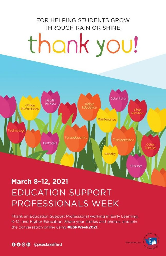 Education Support Professionals Week - March 8 - 12
