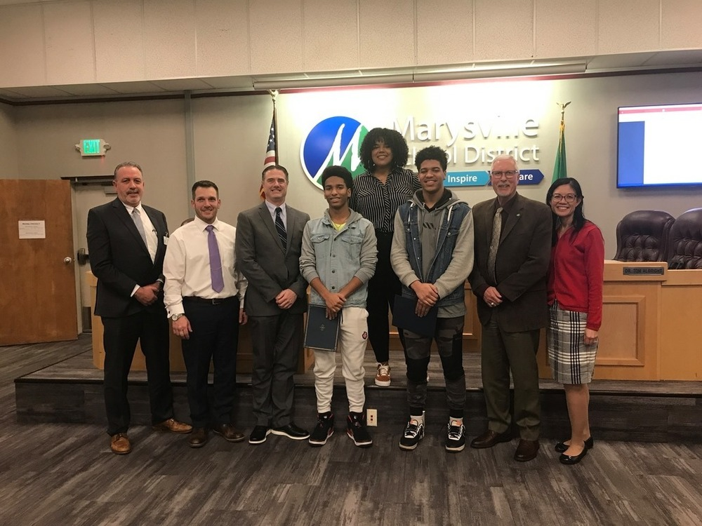 Marysville Students Read Resolution for Black History Month