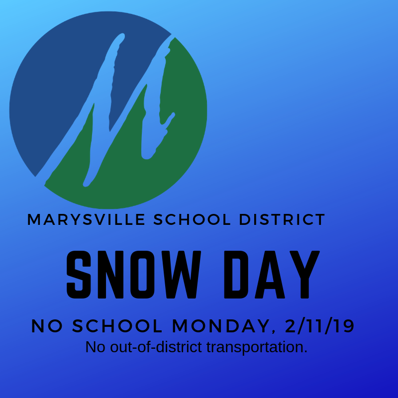 SNOW DAY - NO SCHOOL 2/11/19