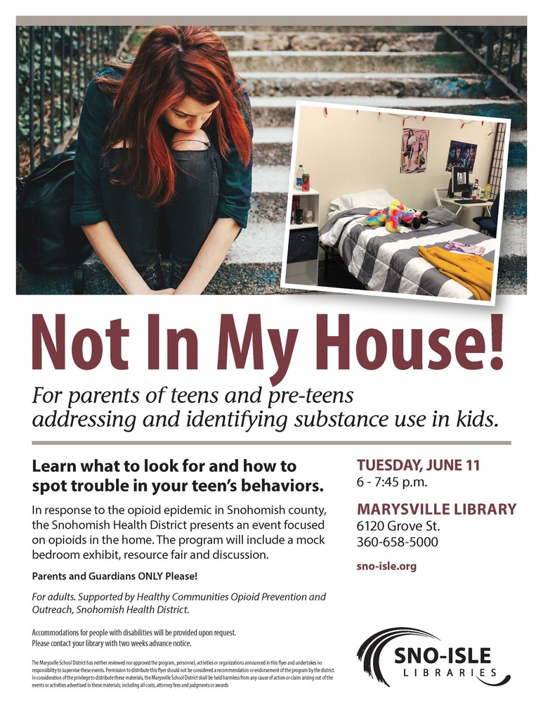Marysville Public Library Event for Parents, Guardians and Teens