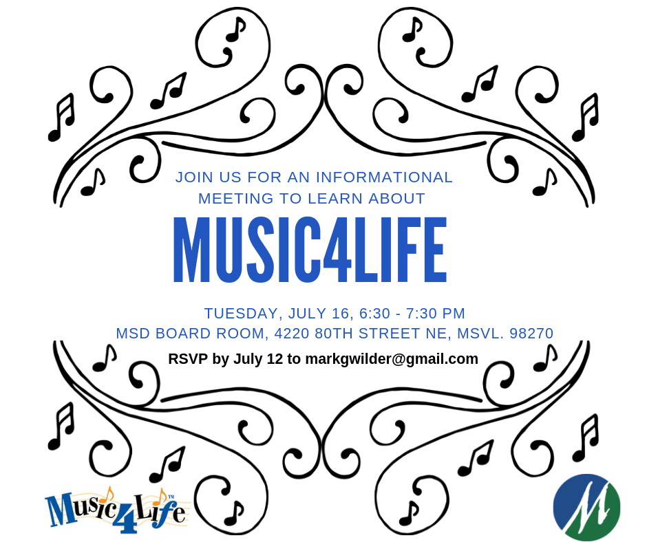 Music4Life Meeting, July 16, 6:30 pm