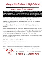 Great News from NJROTC