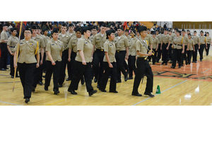 Veterans appreciate what NJROTC does to honor them at MP's Military inspection