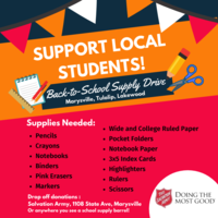 School Supply Drive Information and Sign Up