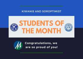 September and October Students of the Month!