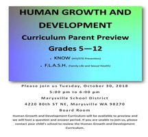 Human Growth and Development Curriculum Parent Preview for Grades 5 - 12