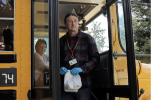 WE'RE ON THE NEWS: Marysville School District's employees Matt Remle, Native American Lead Liaison, and Barb Shelton, Bus Driver, were featured in Time Magazine as they deliver meals to students on the Tulalip Indian Reservation.