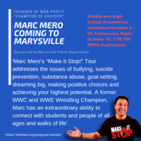 Marc Mero Coming to Marysville