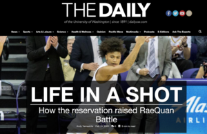 ​WE'RE ON THE NEWS: How the reservation raised RaeQuan Battle By: Andy Yamashita​