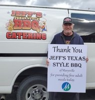 Thank you, Jeff's Texas Style BBQ!