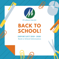 Important Back to School Information!