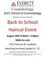 EvCC School of Cosmetology Back-to-School Haircut Event