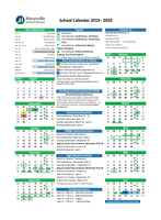 2019 - 2020 School Calendar and Bell Schedule