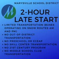 2-Hour Late Start, Wednesday, 2/6/19