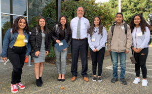 Superintendent Jason Thompson met with a group of Hispanic students