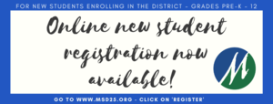Online New Student Registration Now Available!