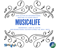 Music4Life Meeting, June 26, 6:30 pm