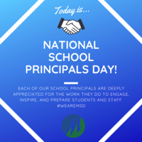 May 1 is National School Principals Day!