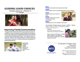 GUIDING GOOD CHOICES: Improving Family Communication