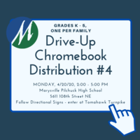 Chromebook Distribution #4 for Grades K - 5, April 20