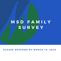 Family Survey - Please Respond by March 16, 2020