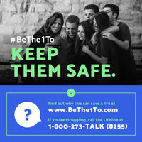 September is National Suicide Prevention Month. Step 3: Keep Them Safe