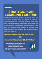 Join us! Strategic Plan Community Meetings