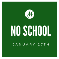 No School on Monday January 27 2020