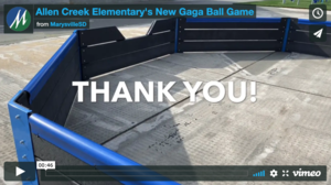 Allen Creek Elementary's New Gaga Ball Game