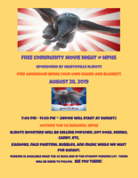 FREE Community MOVIE NIGHT 7:00 PM August 28 @ MPHS Sponsored by Marysville NJROTC