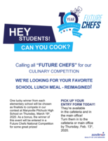 "​Calling all ""FUTURE CHEFS"" for our CULINARY COMPETITION"