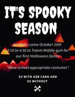 Join us for a Halloween Dance!!