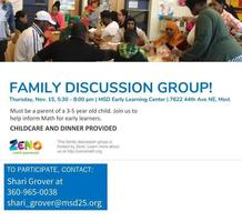 Family Discussion Groups for Early Learning Math