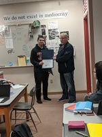 Zach Schalo, a 10th grader at Marysville-Pilchuck High School, received a community service award Thursday.