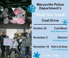 "Marysville Police ask for community's help to ""Stuff the Truck"" with new coats"