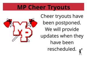 MP Cheer Tryouts Postponed