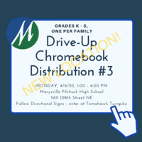 Grades K - 5 Chromebook Distribution #3, April 6, 2020