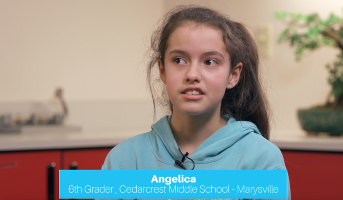 Image: Angelica, 6th grader at Cedarcrest Middle School