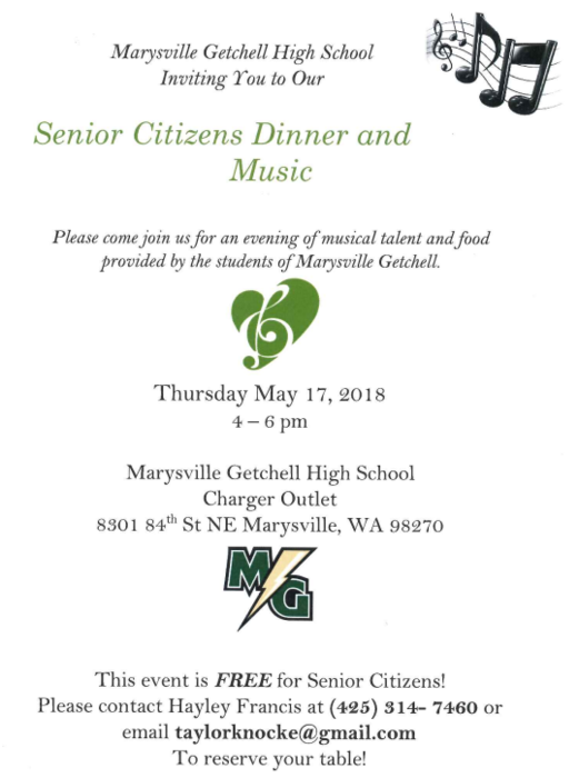 Senior Citizens Dinner and Music