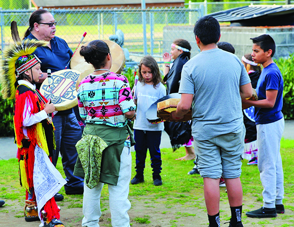 Photo of Quil Ceda Students Celebrating Native Education Day