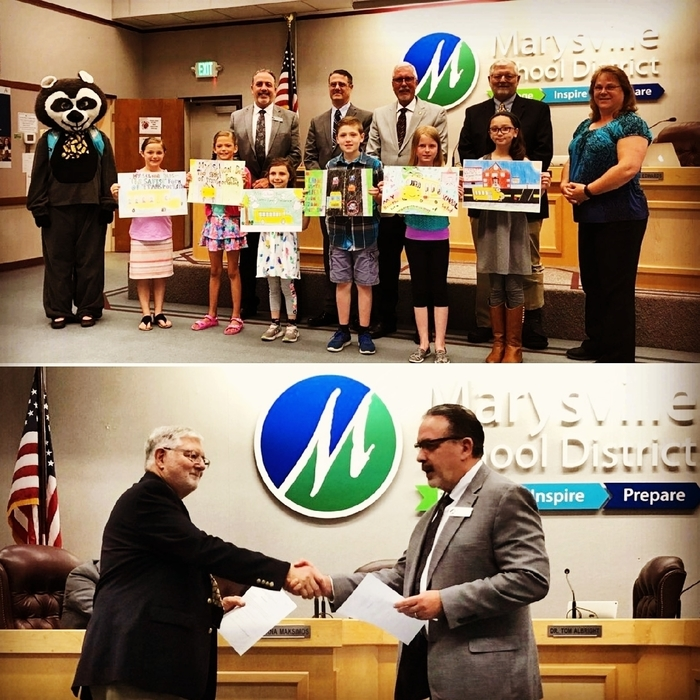 At tonight's Board of Directors meeting Jason Thompson took his oath of office to officially become #MSD25's interim superintendent and we congratulated our school bus safety poster contest winners, Jasmine Goellner, Elle Glover, Alyson Forrest, Sawyer Wentworth, Kara Glassman and Taila Gibbs! Way to to!