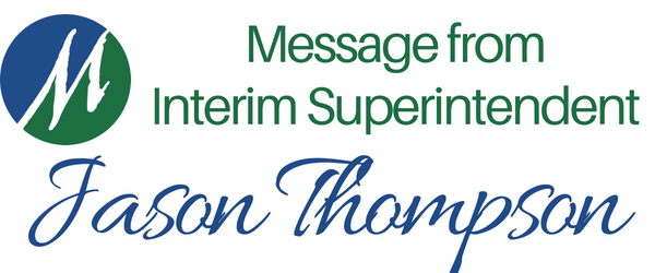 Image: Message from Interim Superintendent Jason Thompson