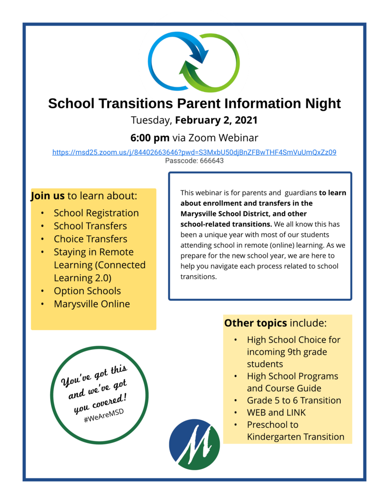 School Transitions Parent Night