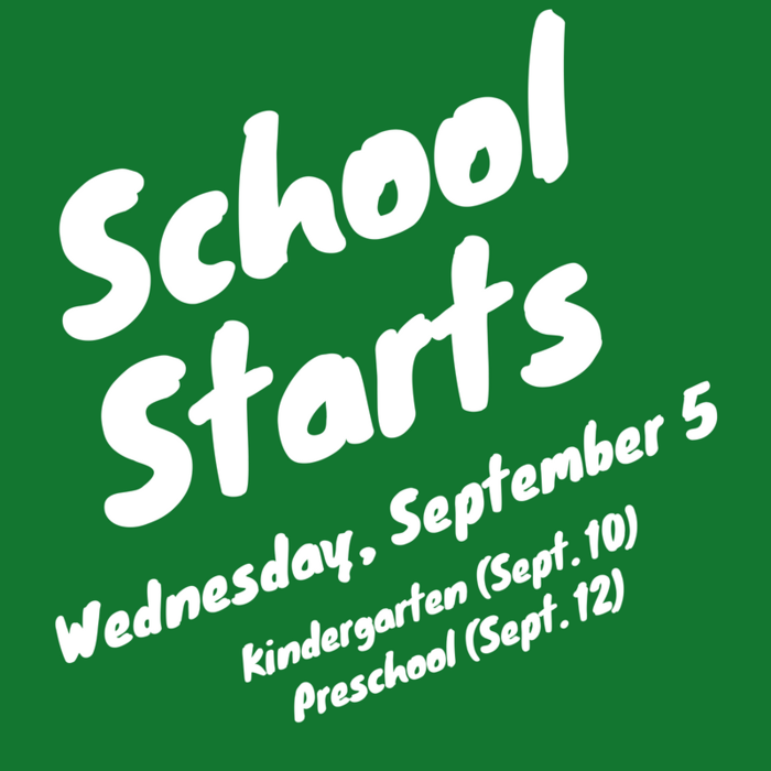 Image: School Starts, Wednesday, September 5